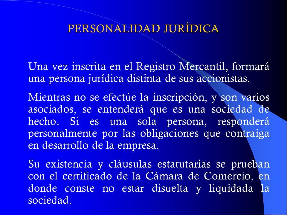 PERSONALIDAD JURÍDICA