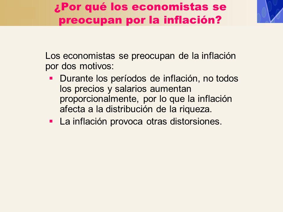 ¿Por qué los economistas se preocupan por la inflación