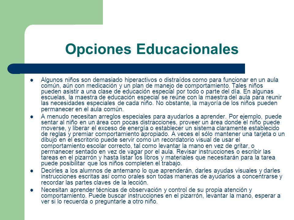 Opciones Educacionales