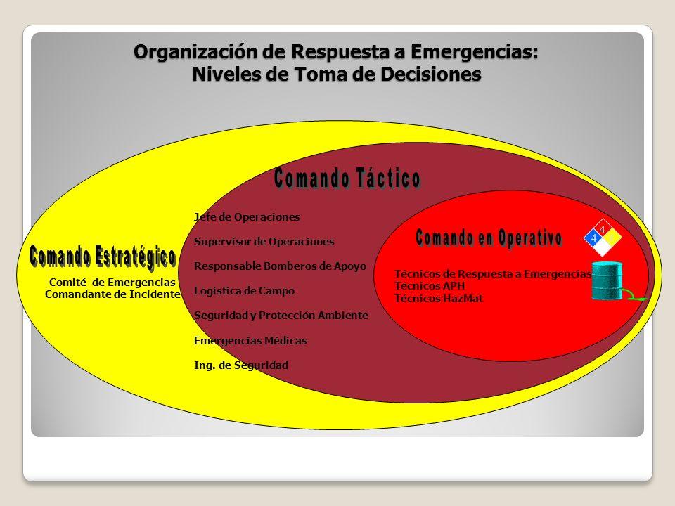 Organización de Respuesta a Emergencias: Niveles de Toma de Decisiones