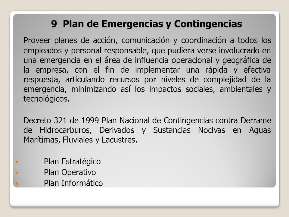 9 Plan de Emergencias y Contingencias