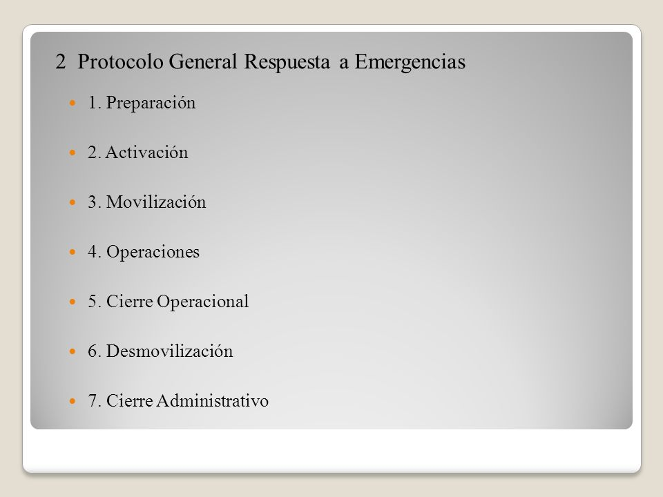 2 Protocolo General Respuesta a Emergencias
