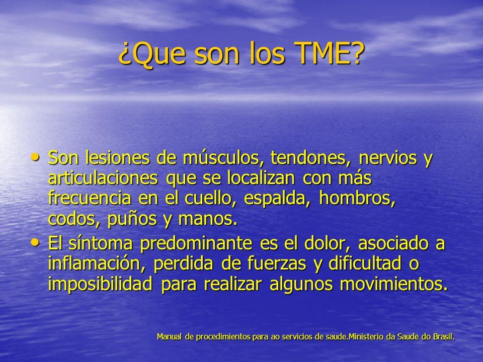 ¿Que son los TME