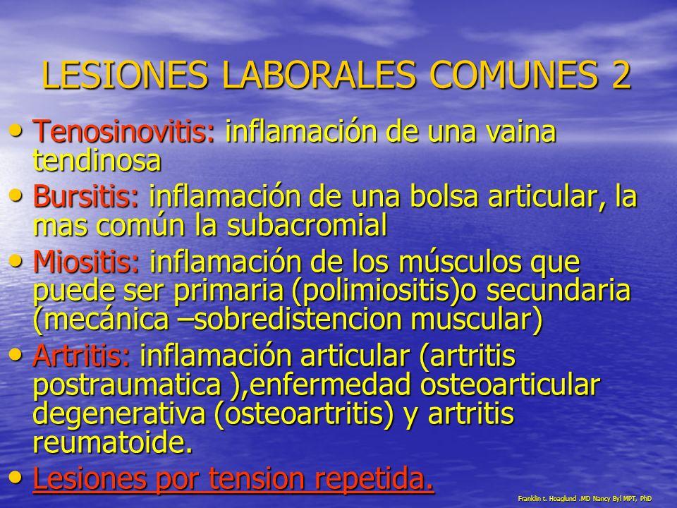 LESIONES LABORALES COMUNES 2