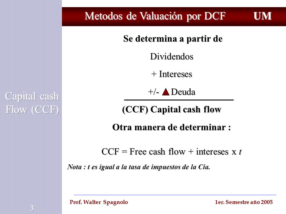 Capital cash Flow (CCF)