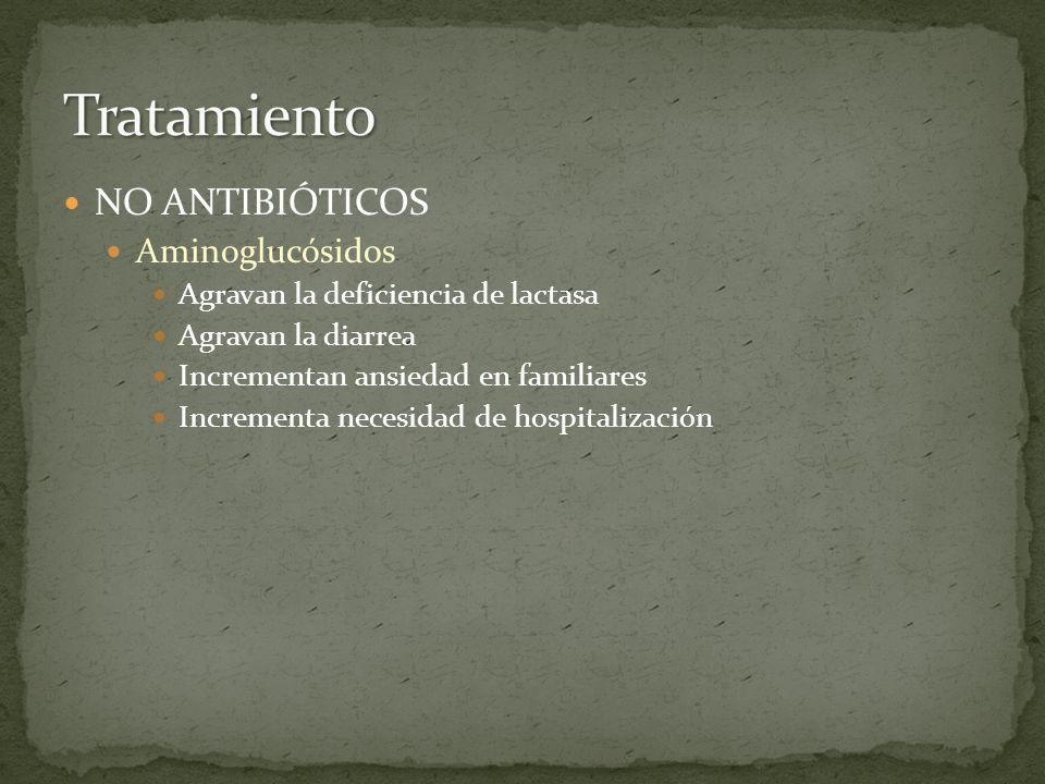 Tratamiento NO ANTIBIÓTICOS Aminoglucósidos