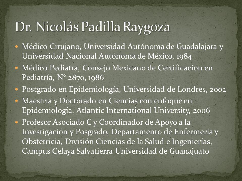 Dr. Nicolás Padilla Raygoza