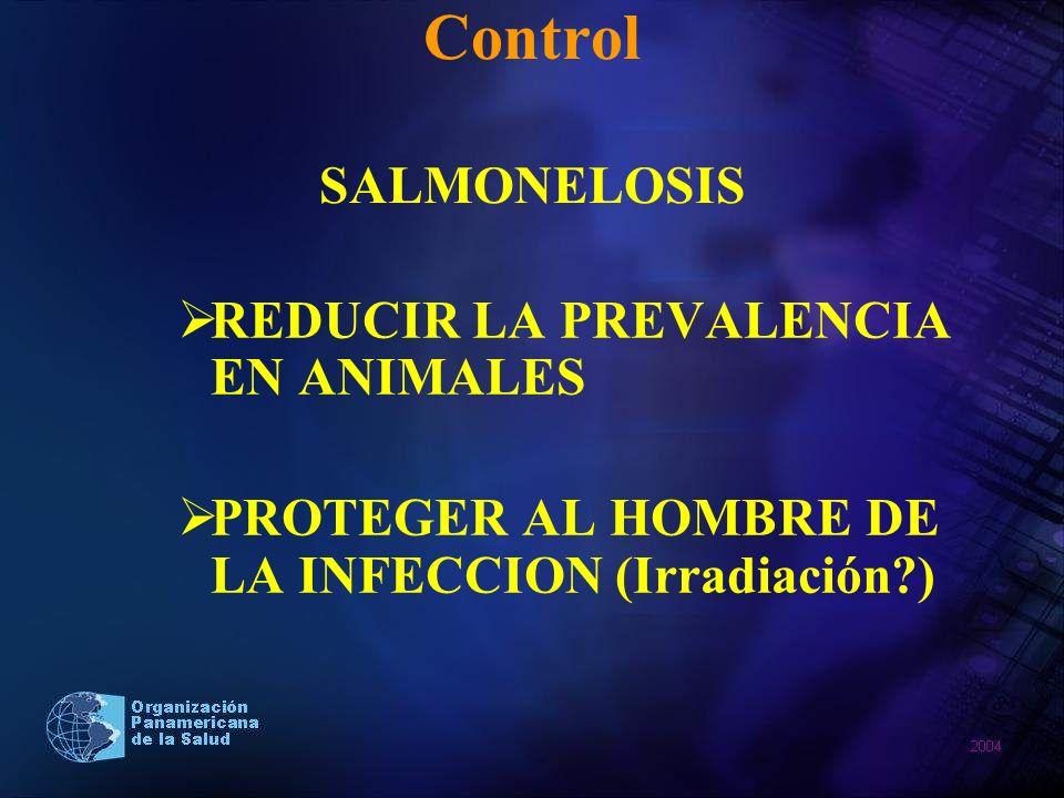 Control SALMONELOSIS REDUCIR LA PREVALENCIA EN ANIMALES