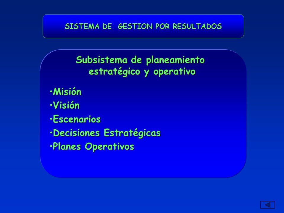 Subsistema de planeamiento estratégico y operativo