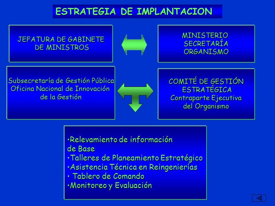 ESTRATEGIA DE IMPLANTACION