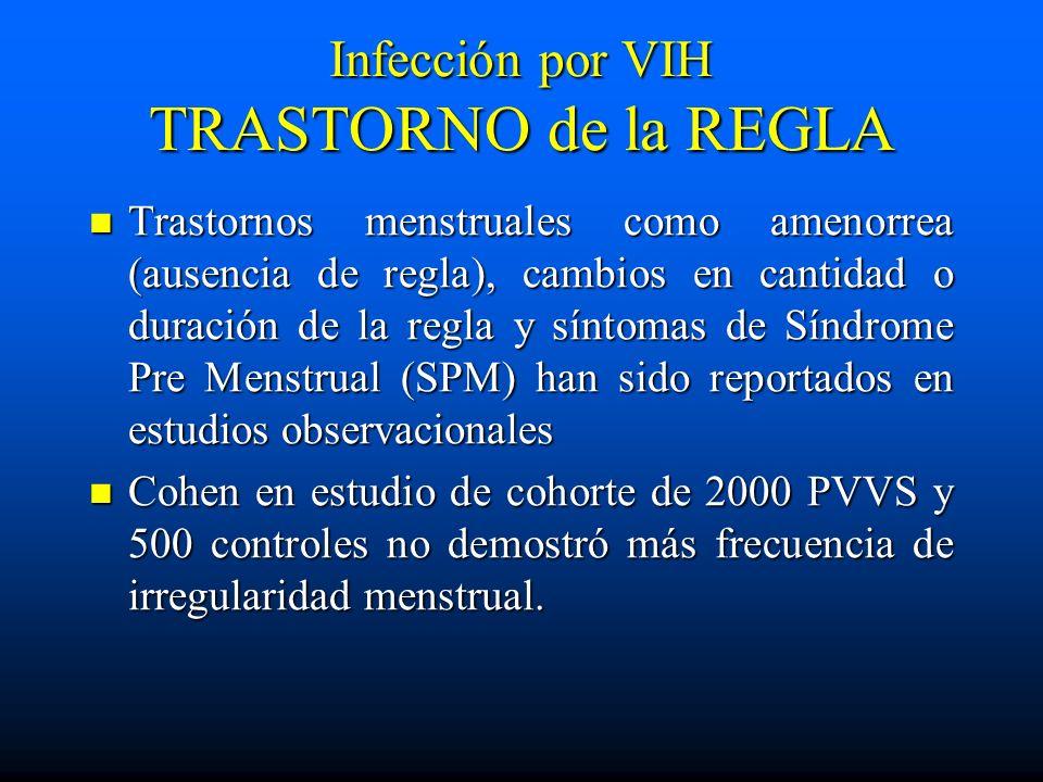Infección por VIH TRASTORNO de la REGLA