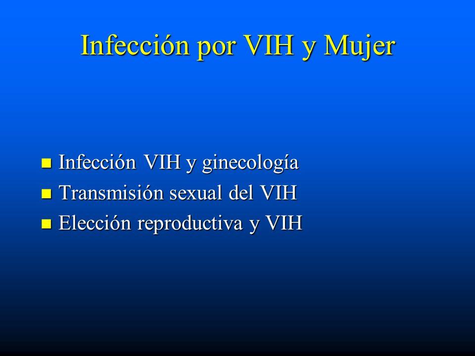 Infección por VIH y Mujer
