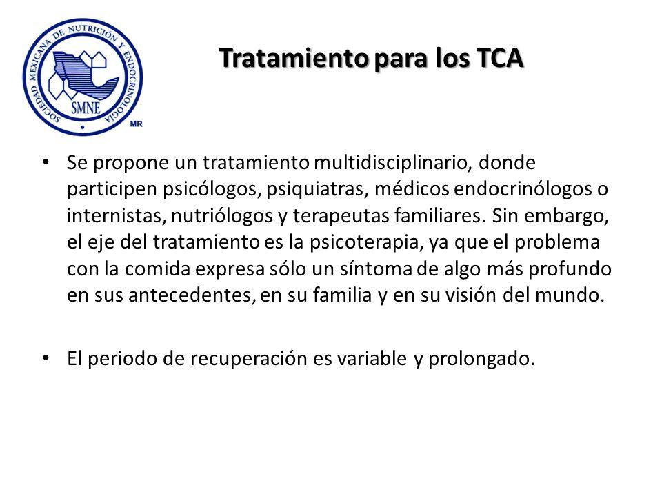 Tratamiento para los TCA