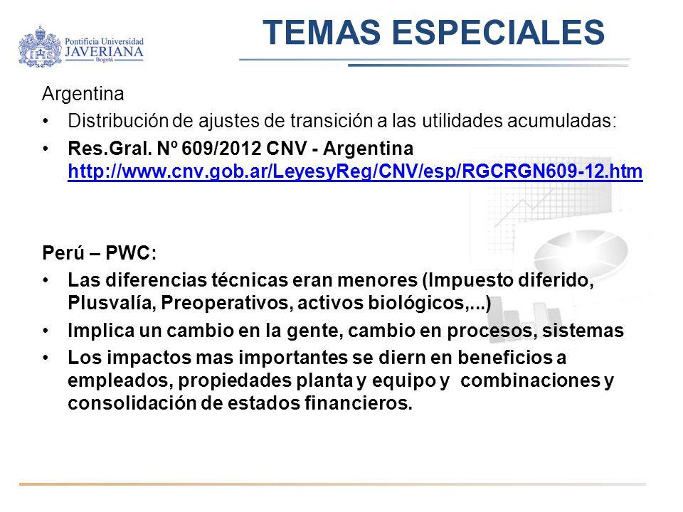 TEMAS ESPECIALES Argentina