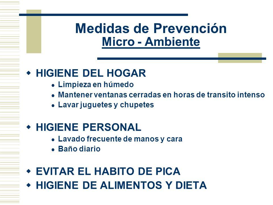 Medidas de Prevención Micro - Ambiente