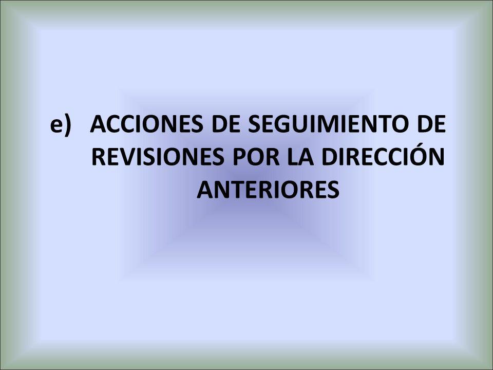 ACCIONES DE SEGUIMIENTO DE REVISIONES POR LA DIRECCIÓN ANTERIORES