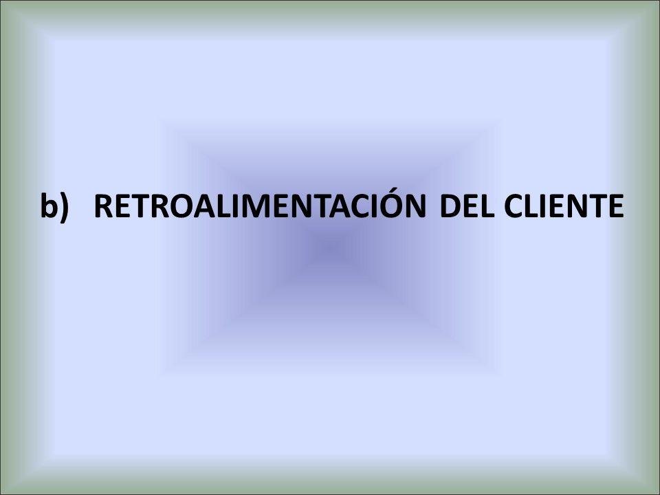 RETROALIMENTACIÓN DEL CLIENTE