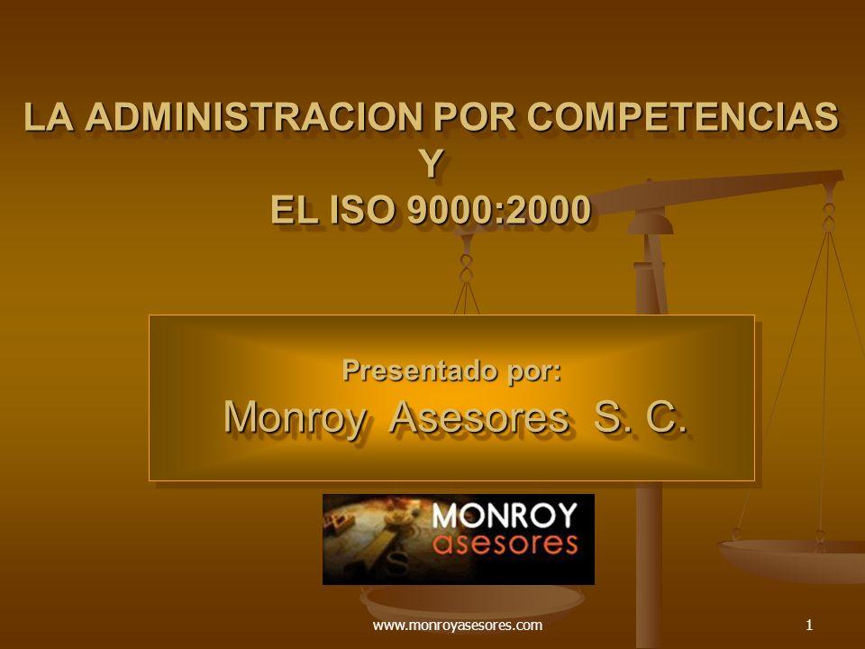 LA ADMINISTRACION POR COMPETENCIAS Y EL ISO 9000:2000