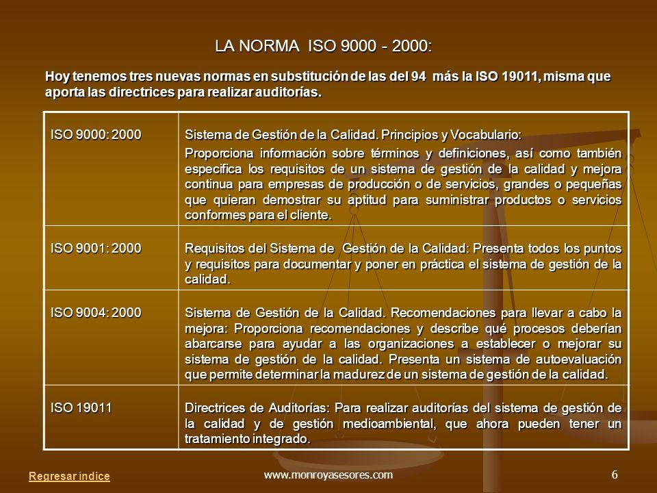 LA NORMA ISO 9000 - 2000: