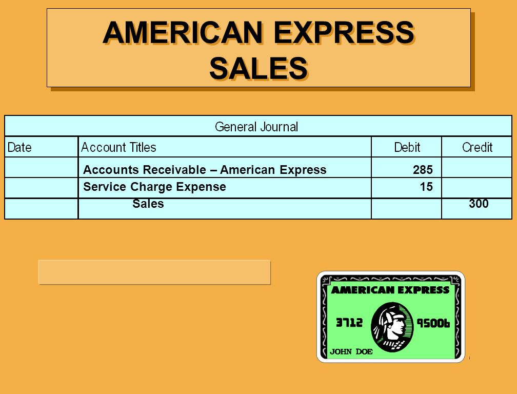 AMERICAN EXPRESS SALES