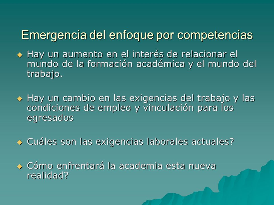 Emergencia del enfoque por competencias