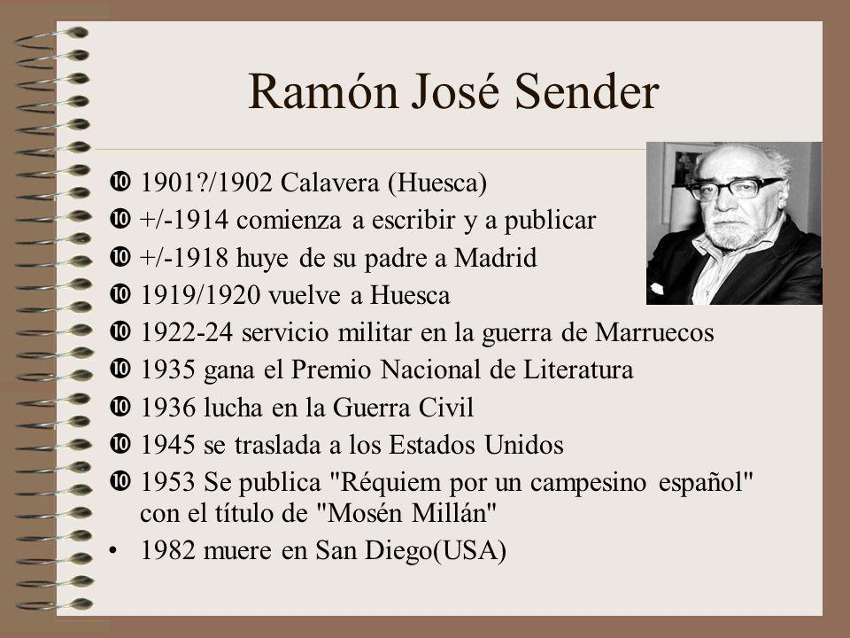 Ramón José Sender 1901 /1902 Calavera (Huesca)