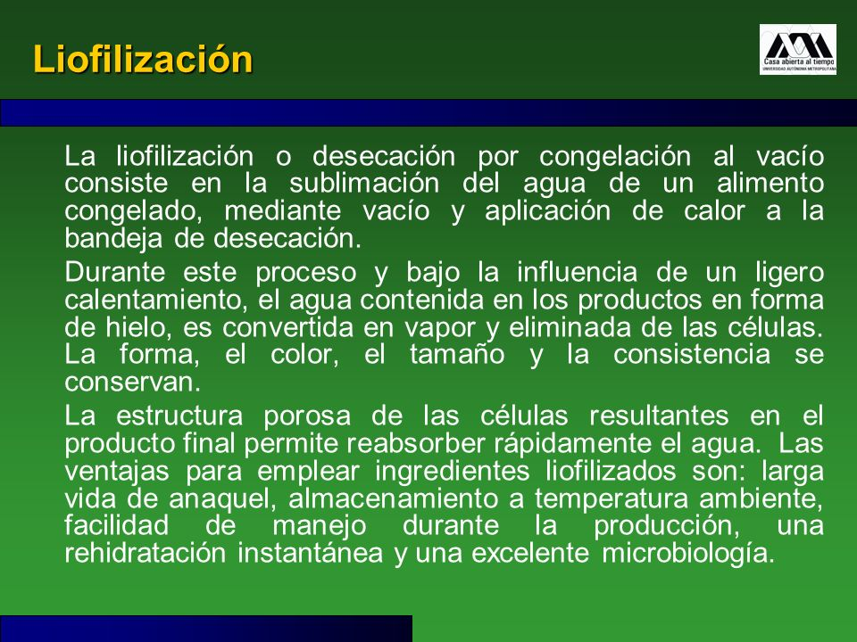 Liofilización