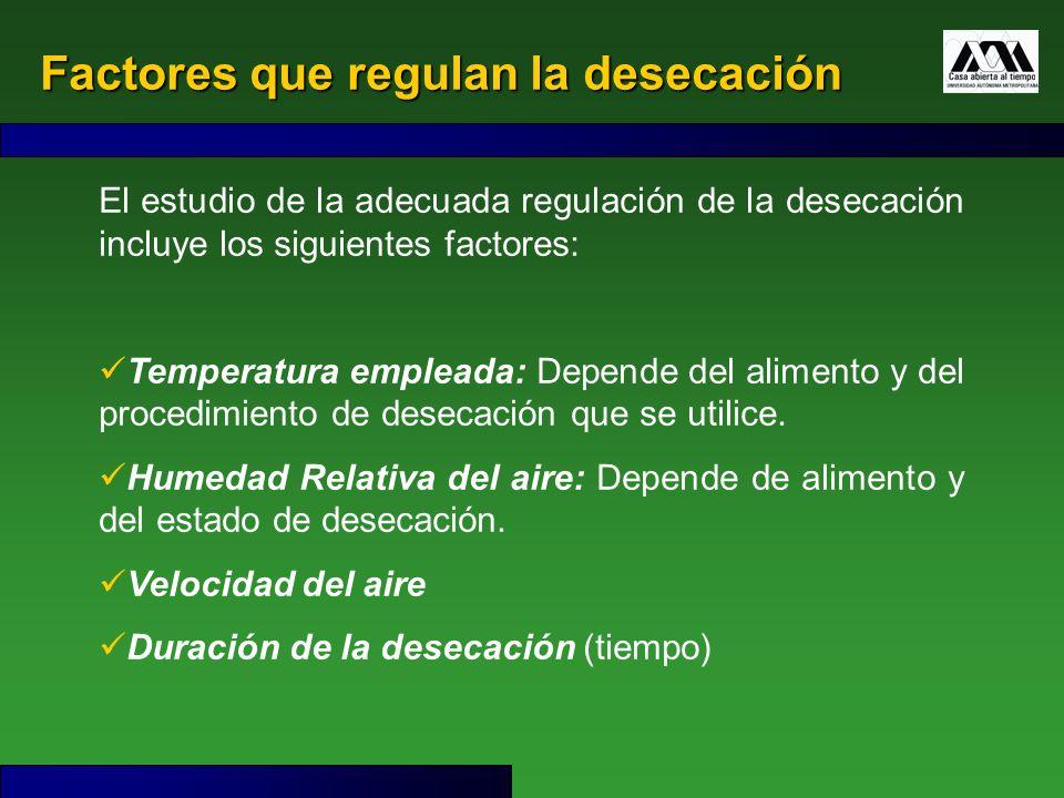 Factores que regulan la desecación