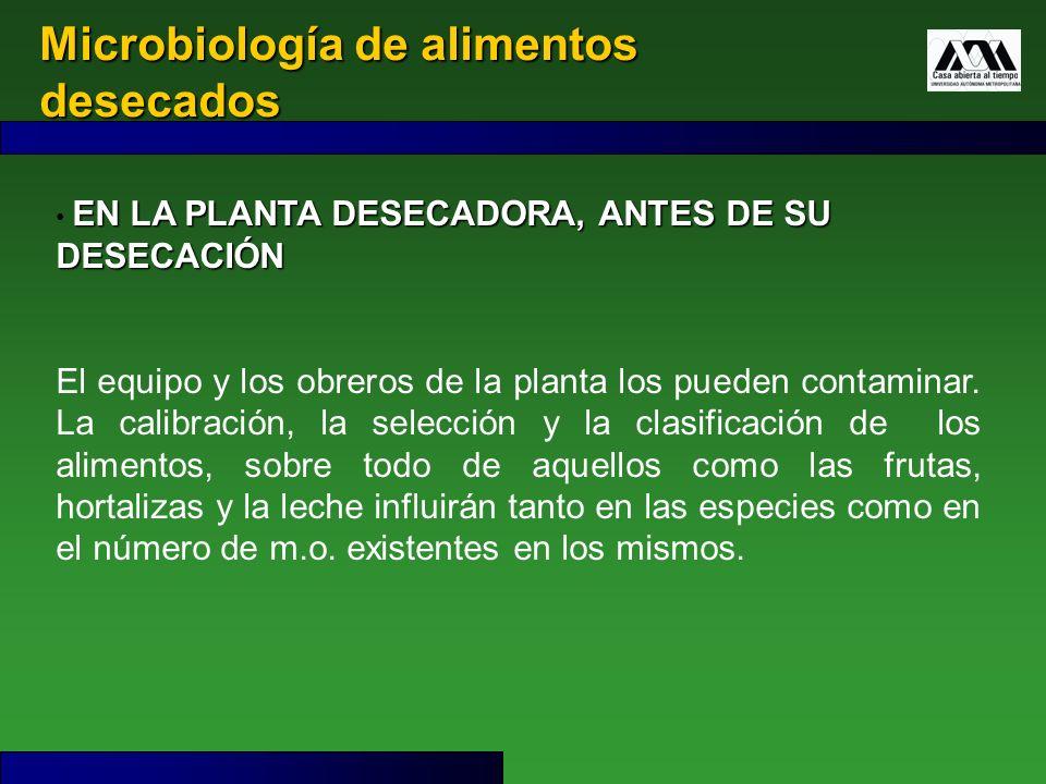 Microbiología de alimentos desecados