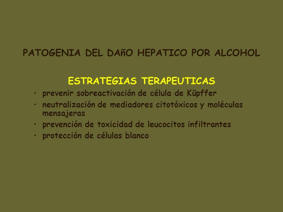 PATOGENIA DEL DAñO HEPATICO POR ALCOHOL ESTRATEGIAS TERAPEUTICAS