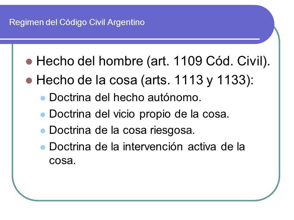 Regimen del Código Civil Argentino
