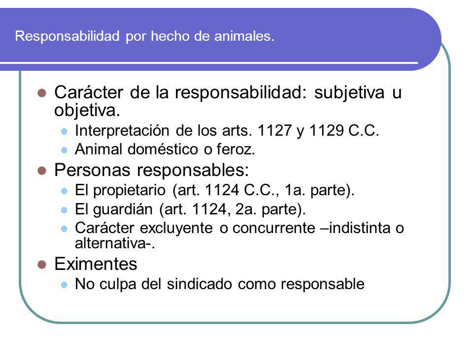 Responsabilidad por hecho de animales.