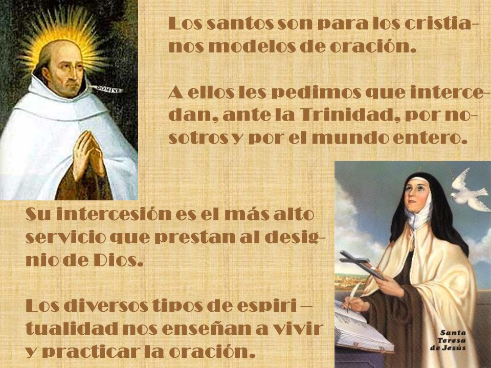 Los santos son para los cristia-