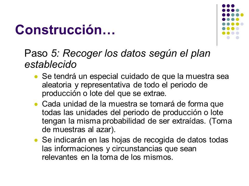 Construcción… Paso 5: Recoger los datos según el plan establecido