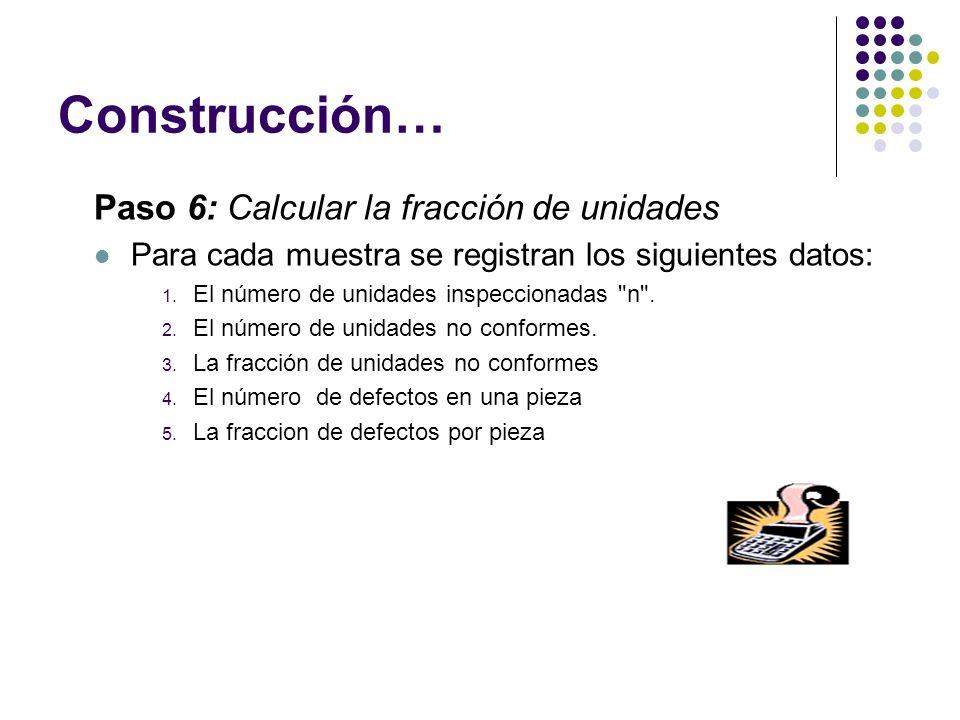 Construcción… Paso 6: Calcular la fracción de unidades