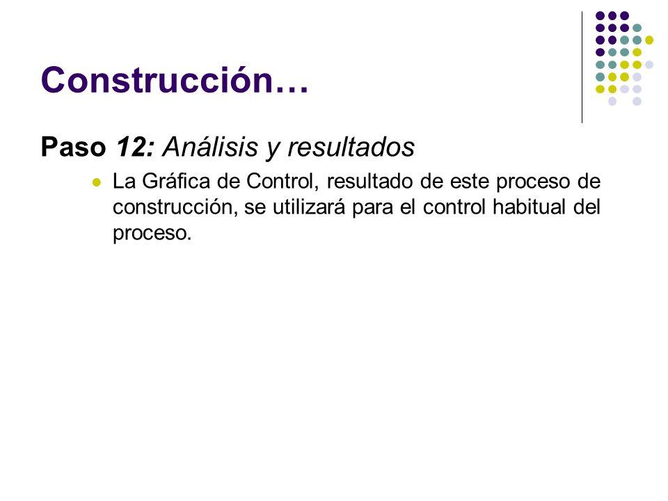 Construcción… Paso 12: Análisis y resultados