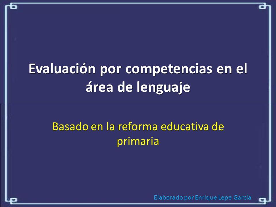 Evaluación por competencias en el área de lenguaje