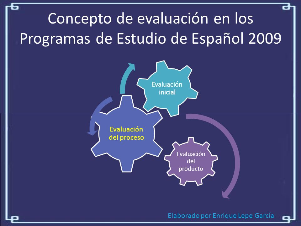 Concepto de evaluación en los Programas de Estudio de Español 2009