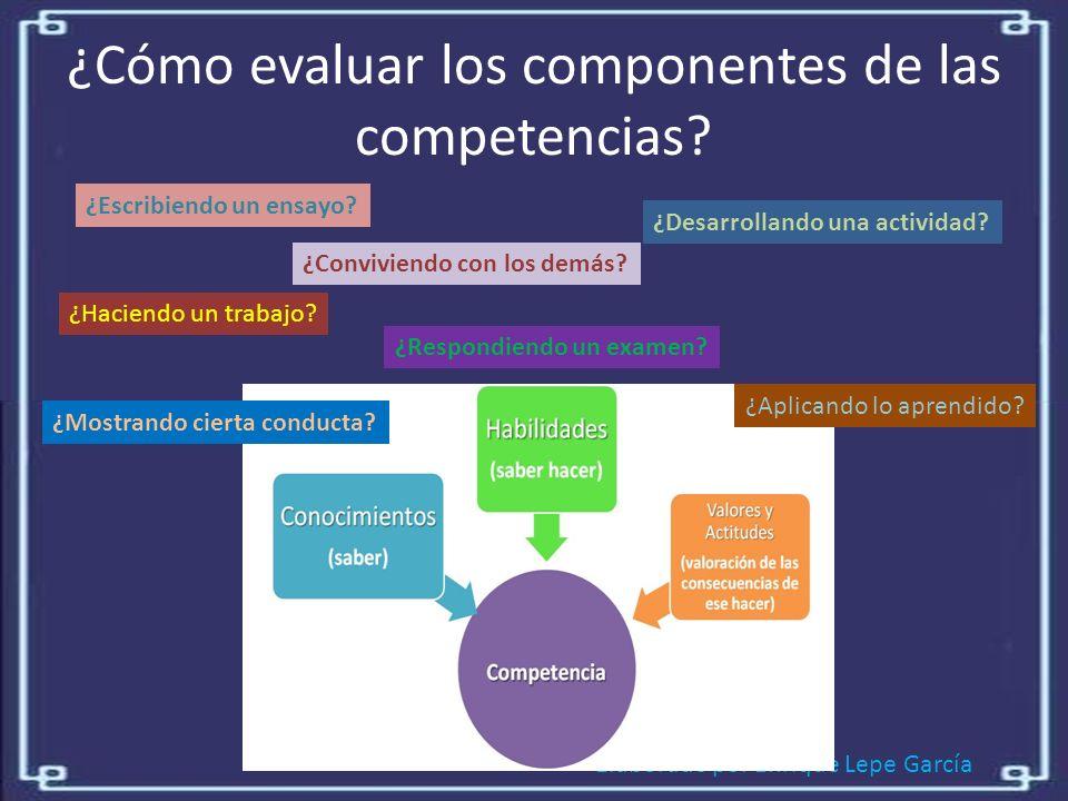 ¿Cómo evaluar los componentes de las competencias