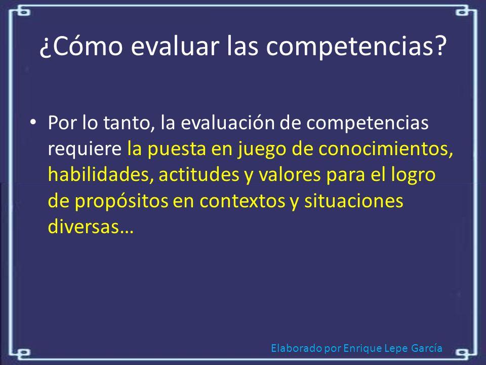 ¿Cómo evaluar las competencias
