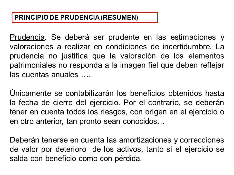 PRINCIPIO DE PRUDENCIA (RESUMEN)