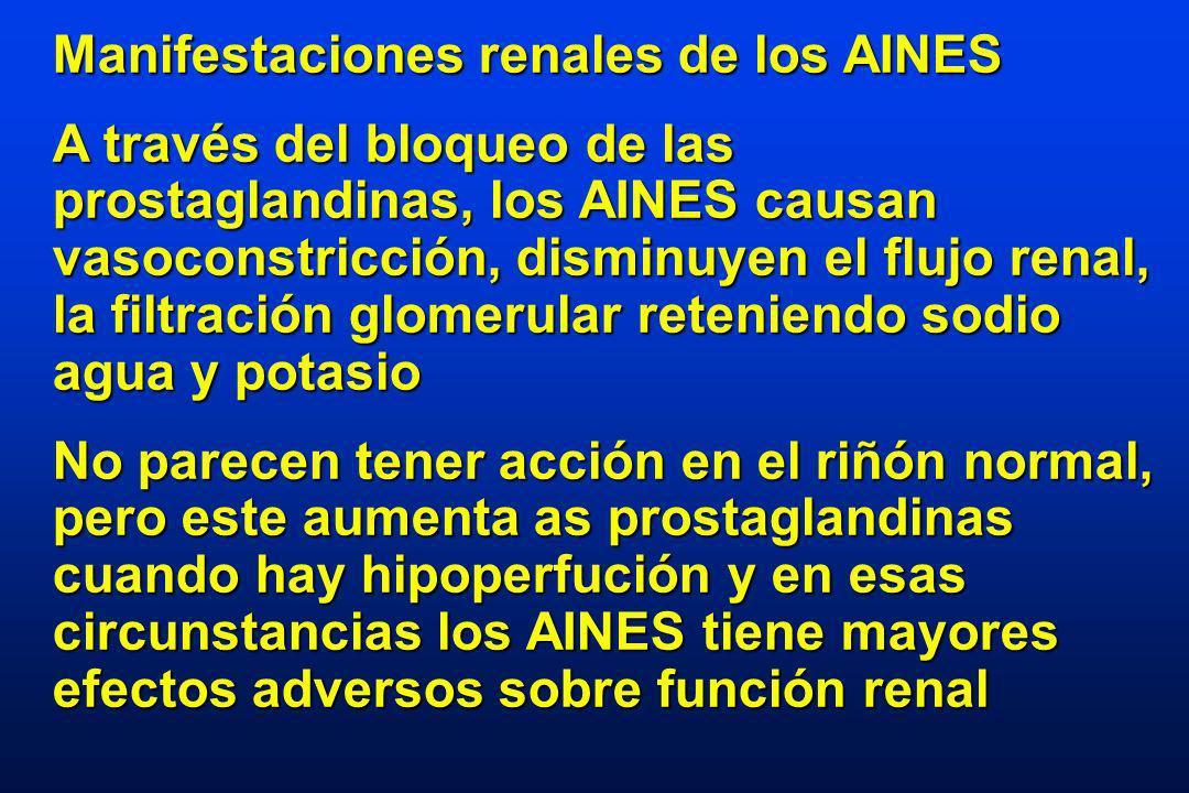 Manifestaciones renales de los AINES