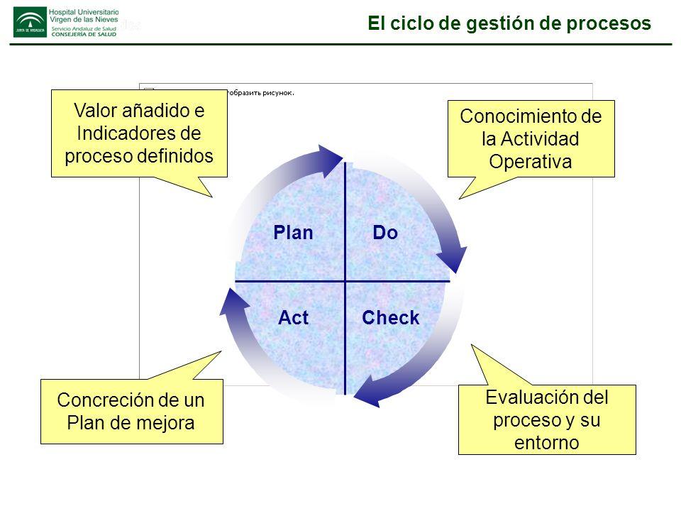 El ciclo de gestión de procesos