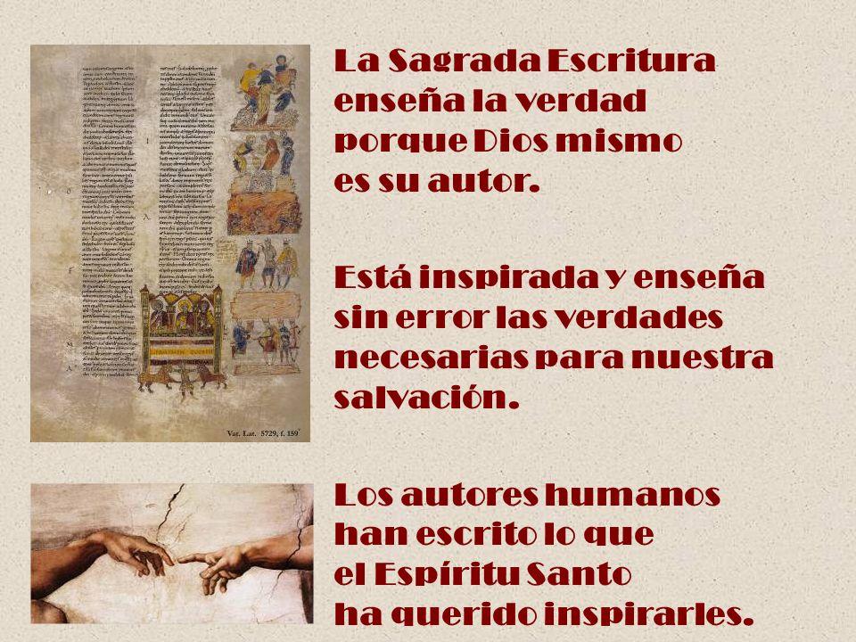 La Sagrada Escritura enseña la verdad