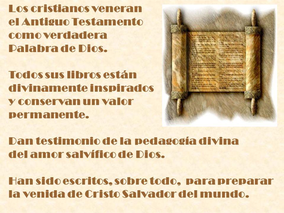Los cristianos veneran el Antiguo Testamento como verdadera Palabra de Dios.