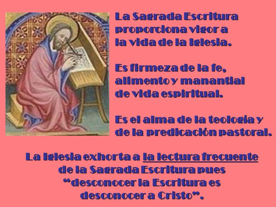 La Sagrada Escritura proporciona vigor a