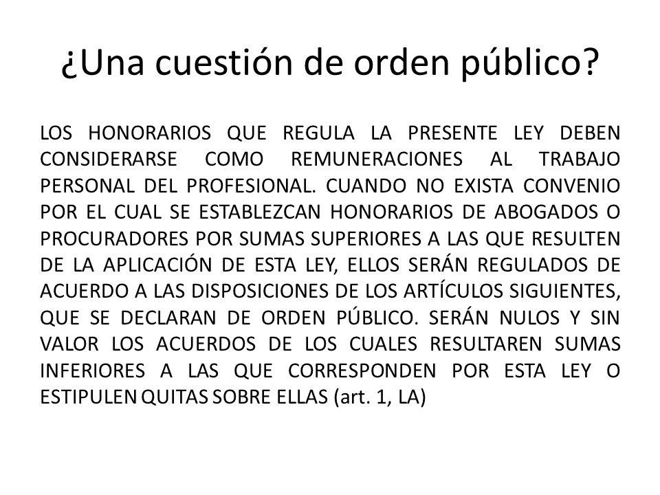 ¿Una cuestión de orden público