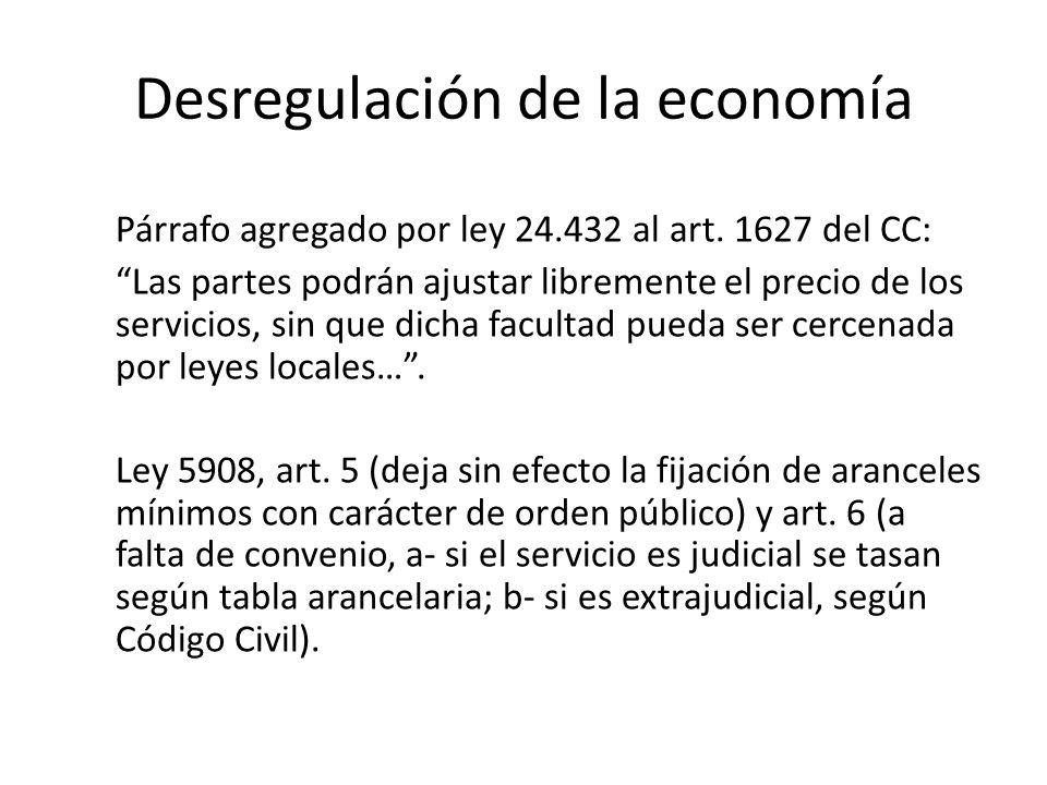 Desregulación de la economía