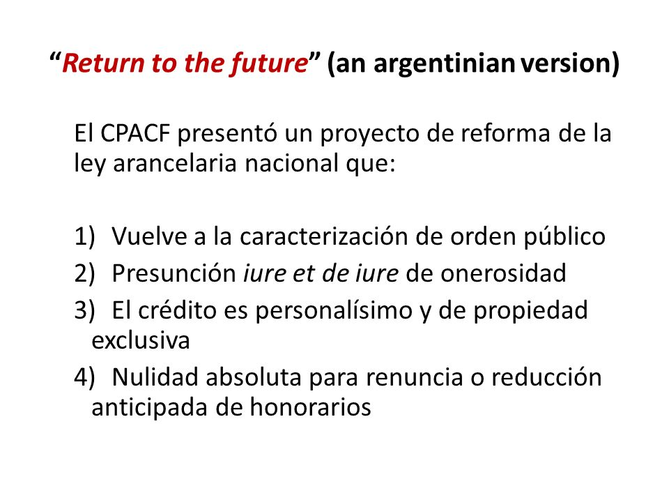 Return to the future (an argentinian version)