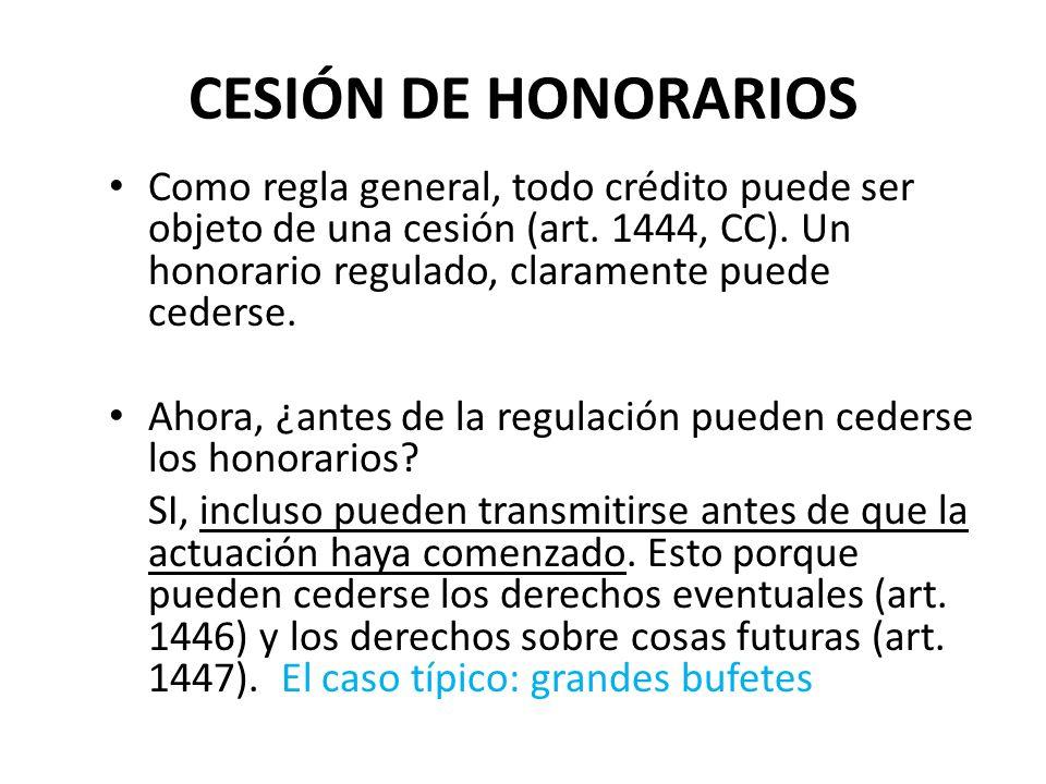 CESIÓN DE HONORARIOS